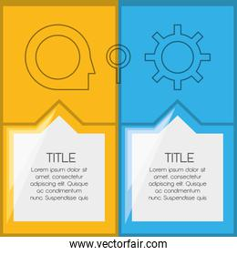 infographic template with icon information