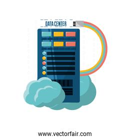 connecting information with data center and cloud