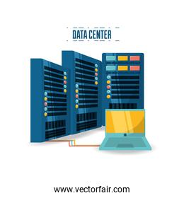 connecting information with data center