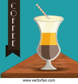 flat latte macchiato concept types coffee drinks