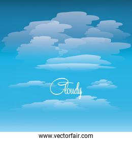 sky with clouds design