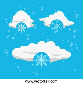clouds and snow design