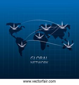 global network design concept