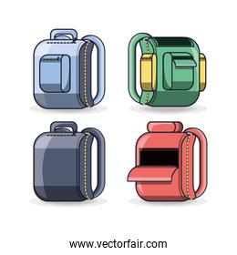 colorfull school backpack education concept