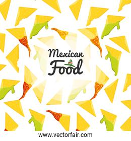 mexican food cuisine seamless pattern