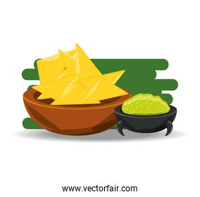 nachos with sauce traditional mexican cuisin
