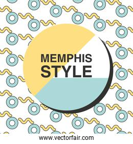 memphis style card colorful template