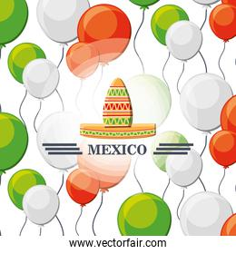 mexico seamless pattern background