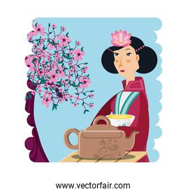 chinese culture geisha culture character