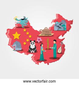 chinese culture set icons