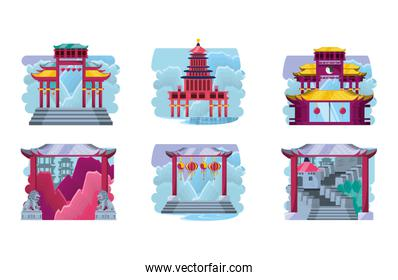 chinese culture architecture icons