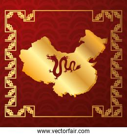 culture china map icons