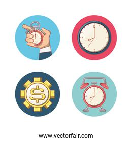 work time set icons