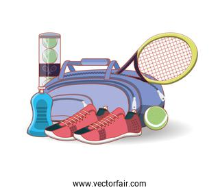 elements to play tennis sport