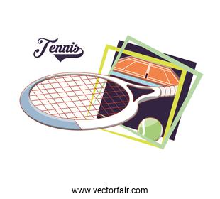 racket and ball to play tennis sport
