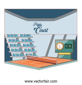 court of tennis sport with stage