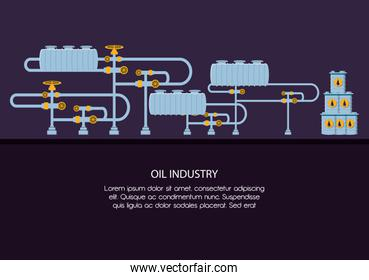 oil industry with pipeline structure