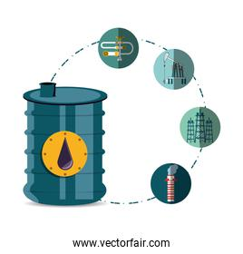 oil industry with barrel