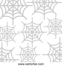 happy halloween spiderweb pattern