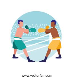 boxers fighting avatars characters