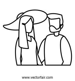 man and woman design