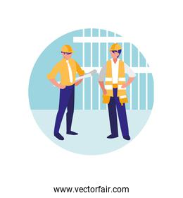 construction workers design
