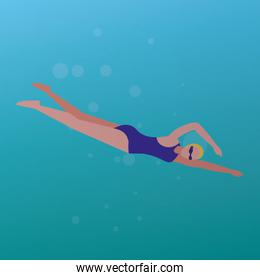 young swimmer design