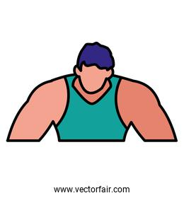 muscle man icon