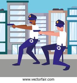 avatar policemen design vector illustration