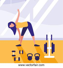 woman exercising design
