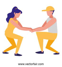 fitness couple design