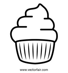 sweet cupcake design vector illustration
