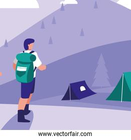 HIker and camping design