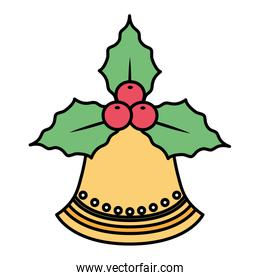 bell and mistletoe icon