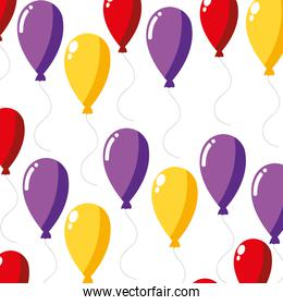 colorful balloons design