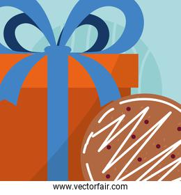 gift box and cookie design
