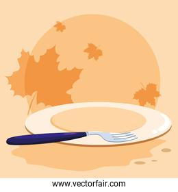 plate and cutlery design