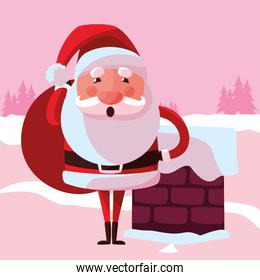 Cartoon santa claus design