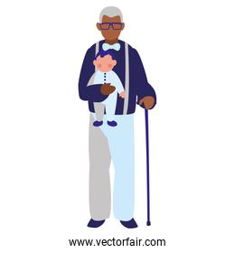 Old man and baby design