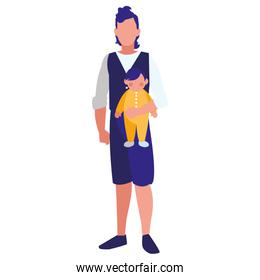 faceless man and baby design