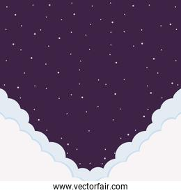 night and clouds background