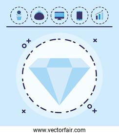 diamond and money design
