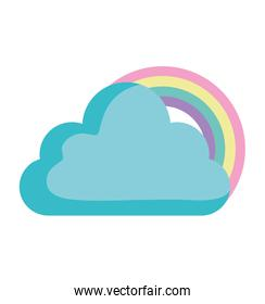 clouds and rainbow design