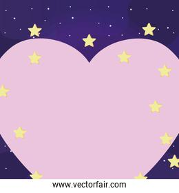 heart and stars design
