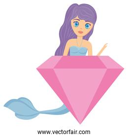 Cute mermaid icon
