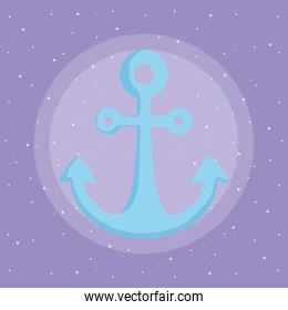 mermaid and anchor design