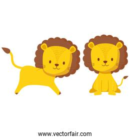 cute circus lion character