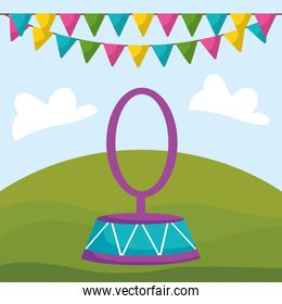 circus ring isolated icon