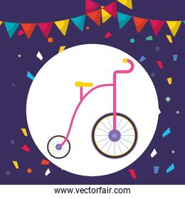 cute trycicle toy icon