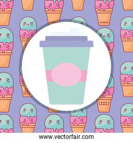 plastic cup container icon